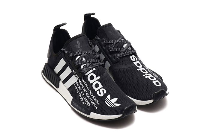 Atmos Adidas Nmd R1 Black White 1
