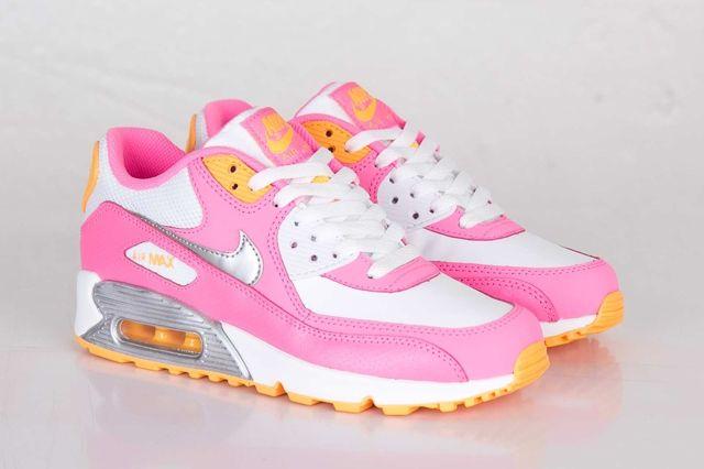 Nike Air Max 90 Gs Pink Glow Metallic Silver 1