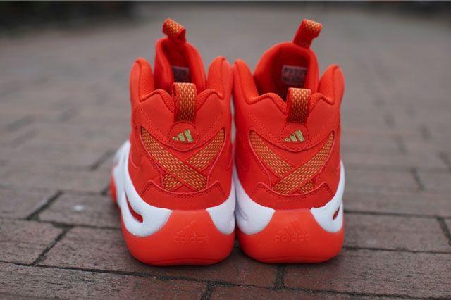 Adidas Crazy 8 Bright Orange Heel