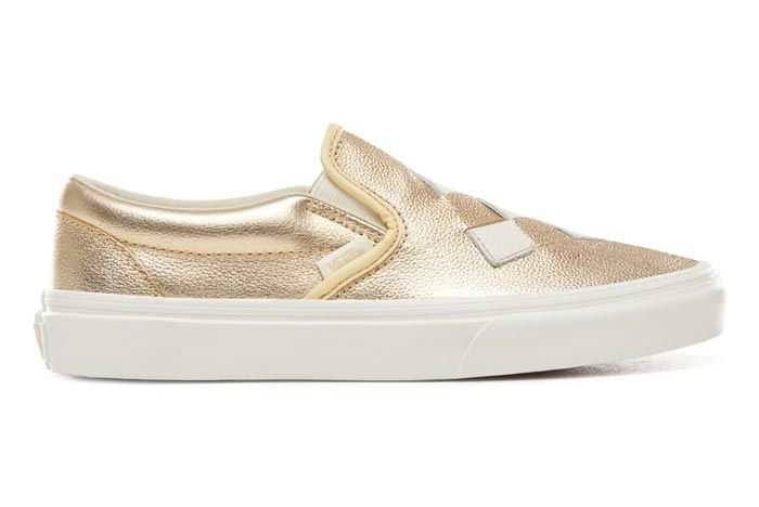 Vans Slip On Woven Brushed Gold Lateral