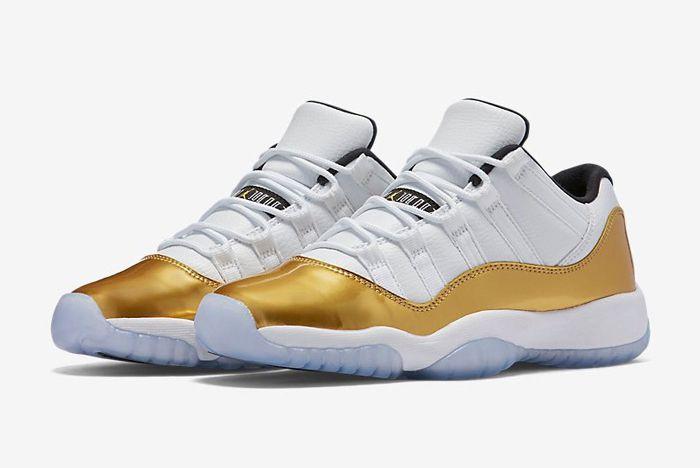 Air Jordan 11 Low Metallic Gold