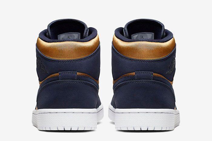 Air Jordan 1 Mid Stain Gold 852542 401 Release Date 5 Heels