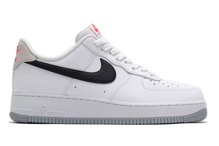 Nike Air Force 1 Low White Black Bone Ember Glow Ck0806 100 Lateral
