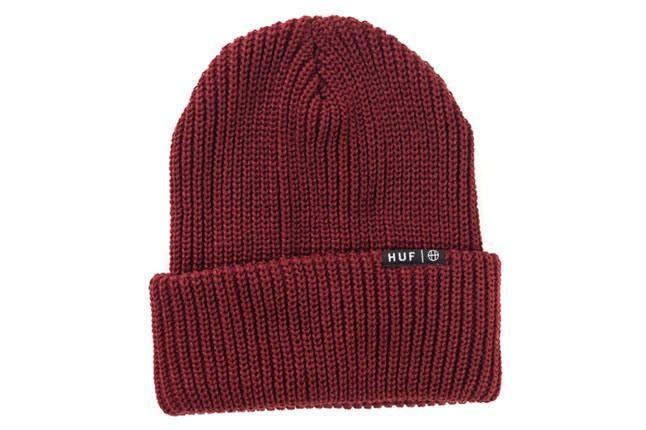 Huf Burgundy Knit Beanie 1
