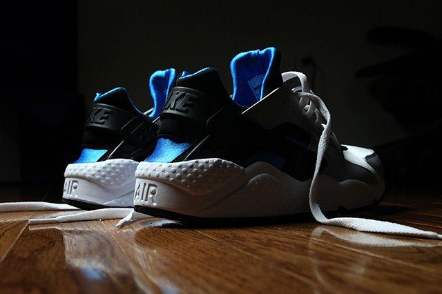 Nike Air Huarache Black And Blue Hero 2