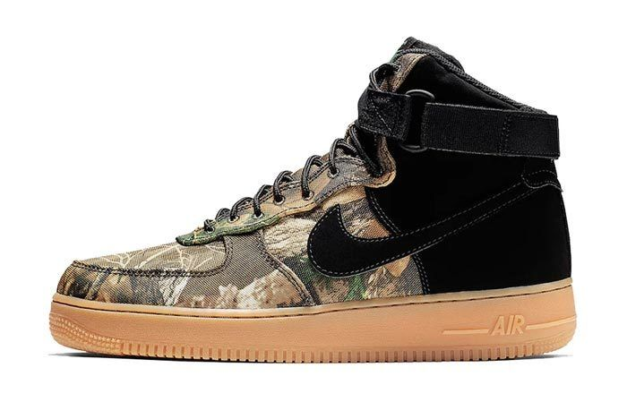 Realtree Black Nike Air Force 1 Lateral