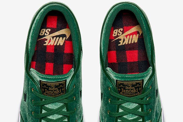 Nike Sb Zoom Stefan Janoski Green Velvet1