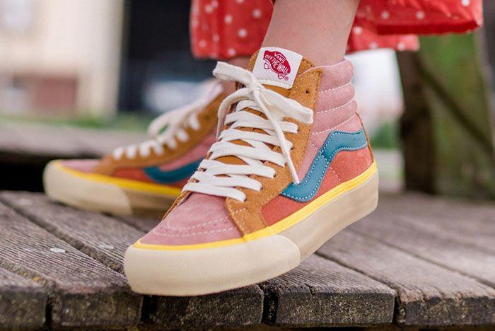 Vans Vault Sk8 Hi Old Skool Era Multicolor Lx Pack Release Date On Foot