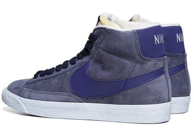 Nike Blazer Mid Suede Obsidian Deep Royal Lateral Pair 1