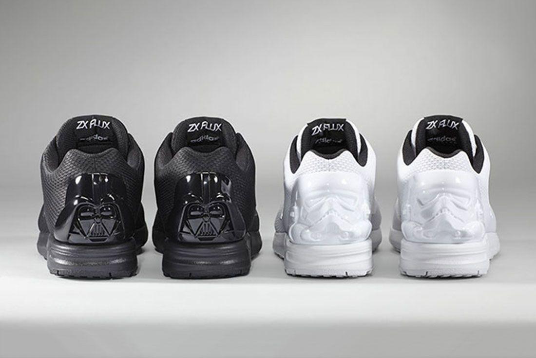 Adidas Mi Zx Flux Darth Vader Stormtrooper White Black Pair