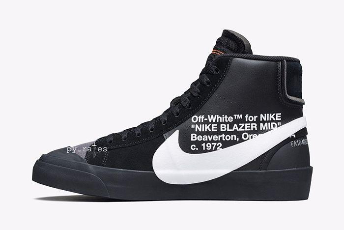 Off White Nike Blazer Mid New Canvas Black 6