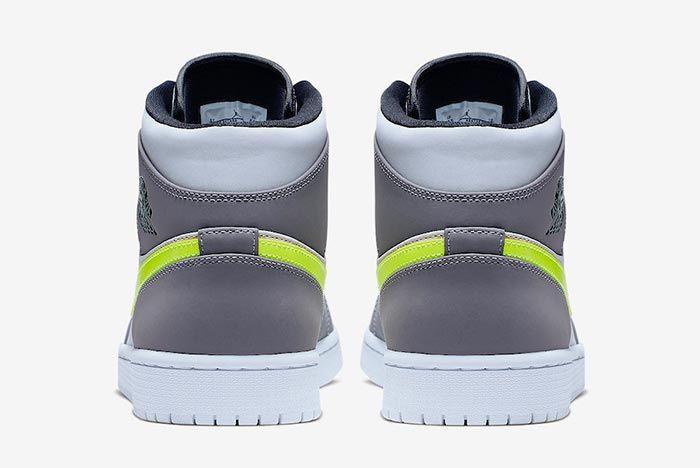 Air Jordan 1 Neon Dark Grey 554724 072 Heelshot