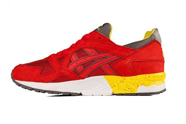 Asics Gel Lyte V Fiery Red Yellow