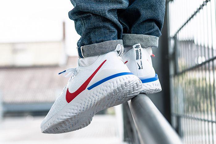 Nike Epic React Flyknit 2 Cortez Cj8295 100 Release Date Heel