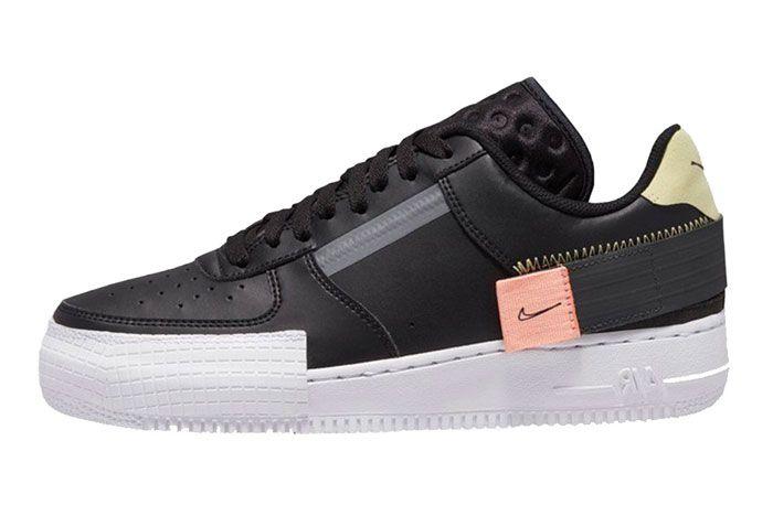 Nike Air Force 1 Low N 354 Black Left