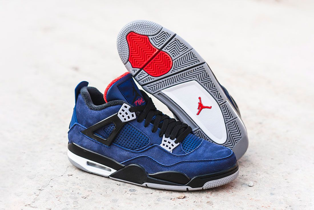 Air Jordan 4 Wntr Blue Front Angle Sole