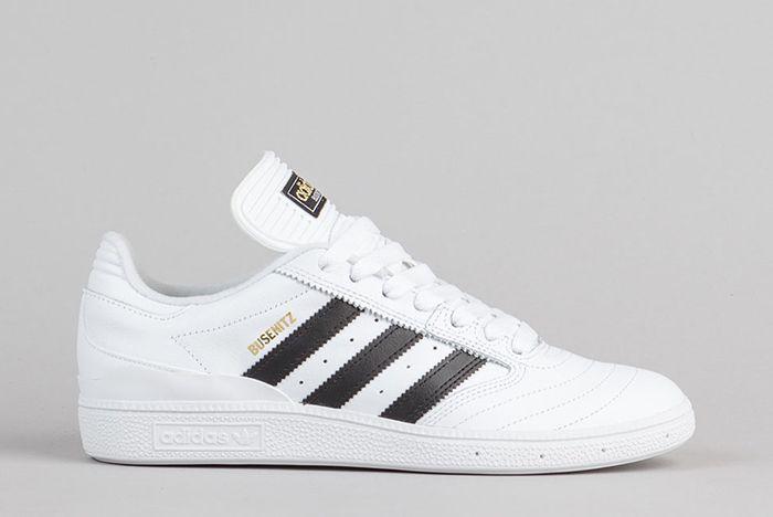 Adidas Busenitz Shoes Ftw White Core Black Gold Metallic 1