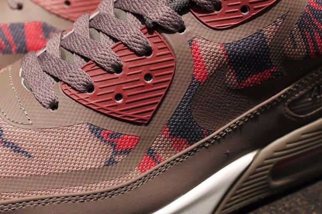 Nike Am90 Prm Tape Red Camo Toe Detail 1