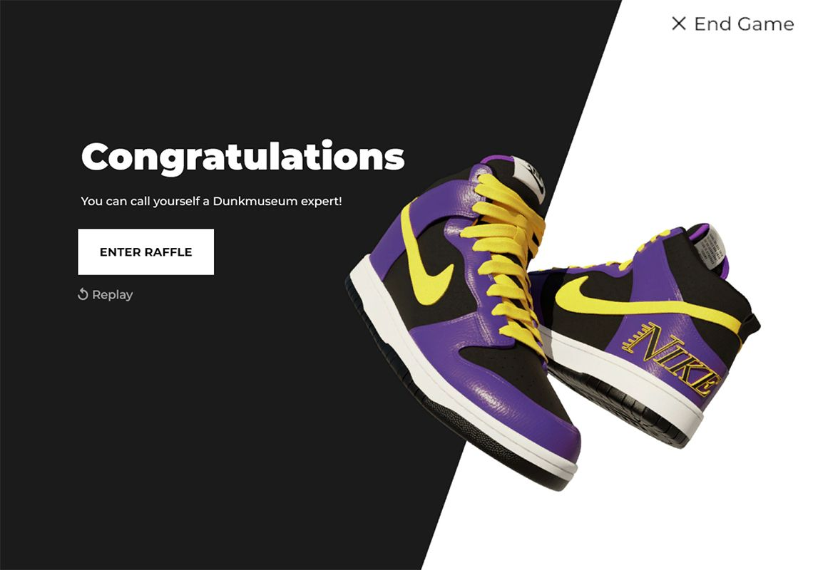 Nike Dunk High EMB 'Lakers' titolo dunk museum