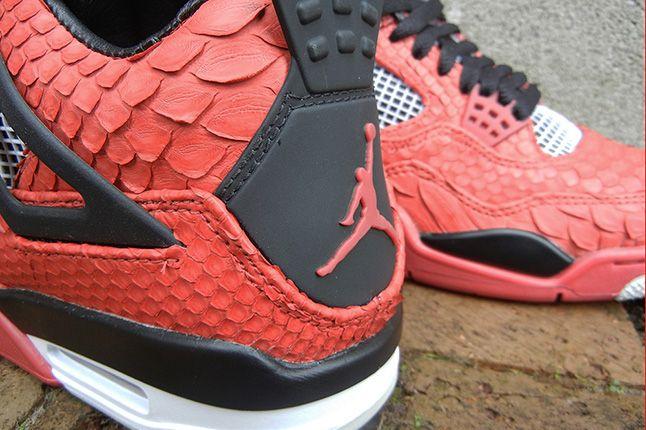 Jbf Customs Jordan Iv Fire Red Python 1 1