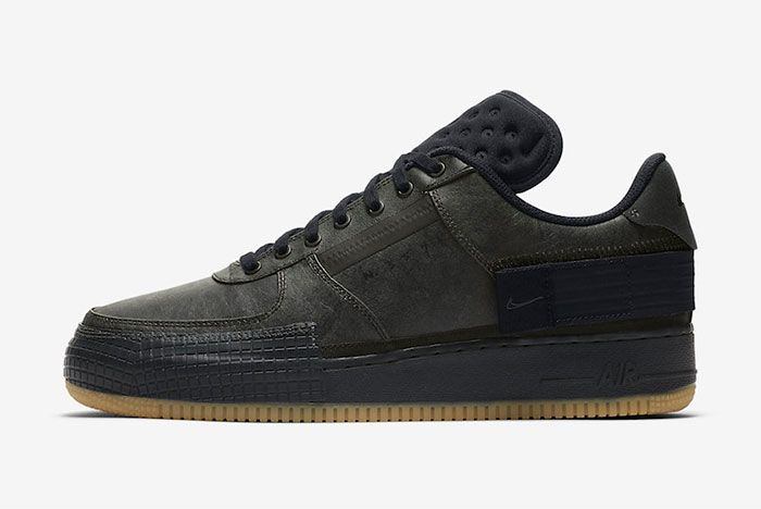 Nike Air Force 1 Black Gum Left