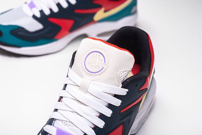 Nike Air Max2 Light Sp Habanero Red Armory Navy Radiant Emerald Bv1359 600 Release Date Tongue