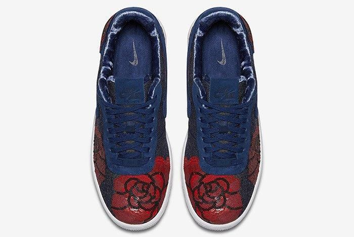 Nike Air Force 1 Denim Floral Seqine 10