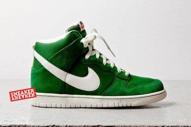Nike Dunk Hi Fortress Green Profile