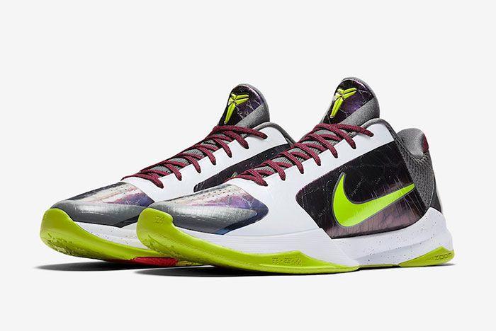 Nike Kobe 5 Protro Chaos Joker Cd4991 100 Front Angle