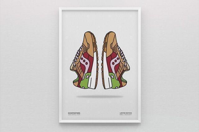 New Range Sneaker Art By Kick Posters 1
