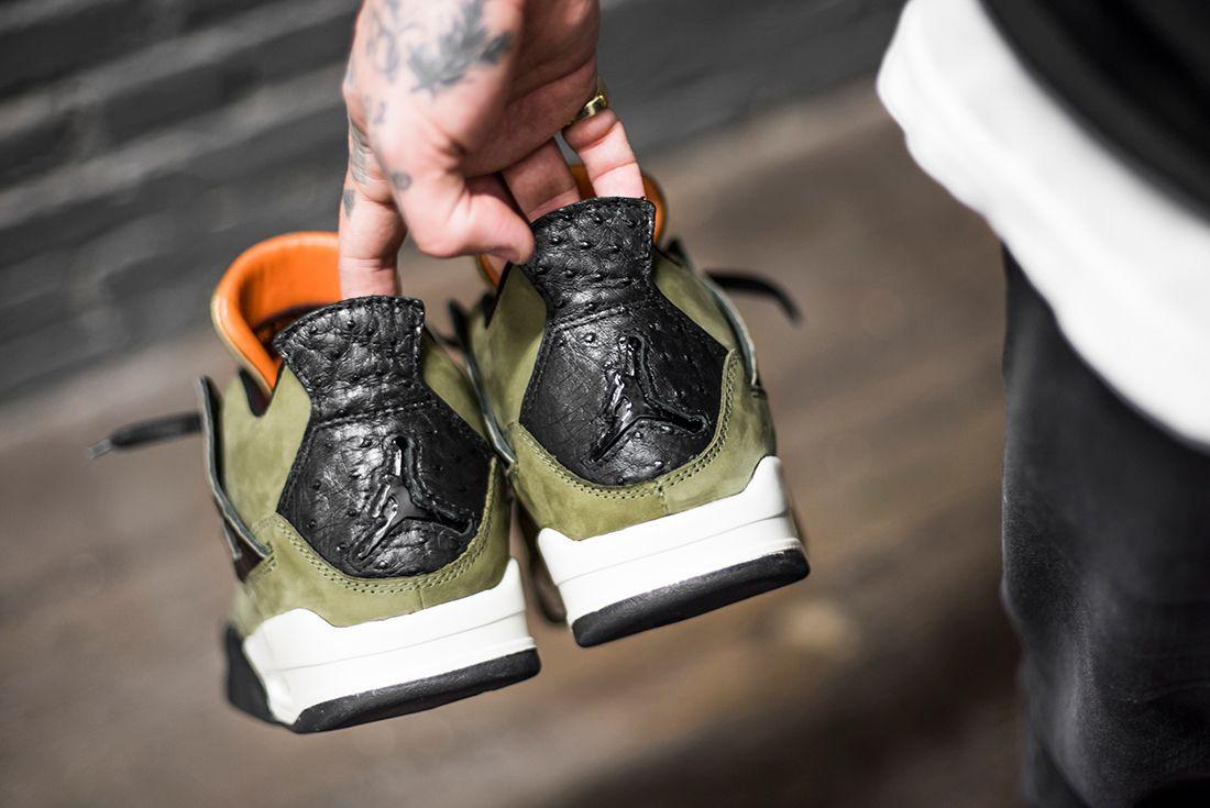 The Shoe Surgeon Reveals Undftd Inspired Air Jordan 4 Custom2