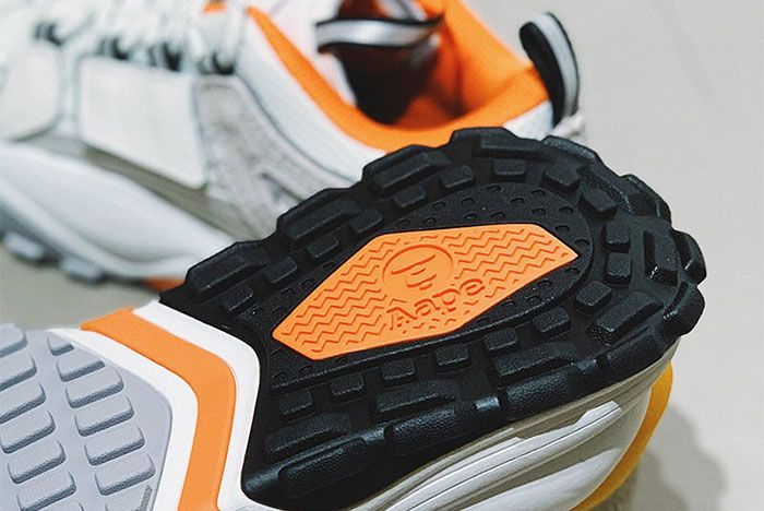 Aape Dimension White Orange Heel