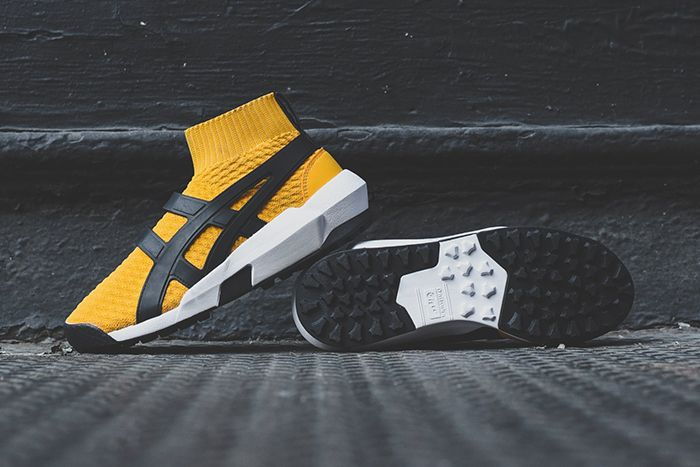 Asics Ap Knit Trainer Tiger Yellow Black Ai1183A418 750 Release Date Pair