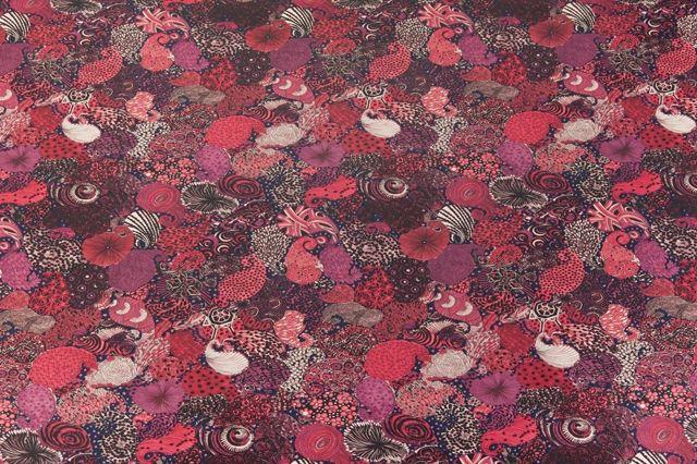 Le Coq Sportif X Liberty Art Fabrics Background Midnight Ruby Wine
