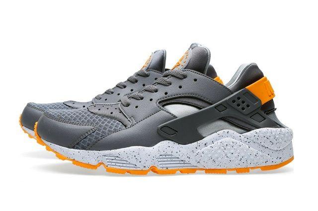 Nike Air Huarache Cool Grey Atomic Mango 6