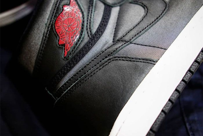 Air Jordan 1 Black Satin Sole