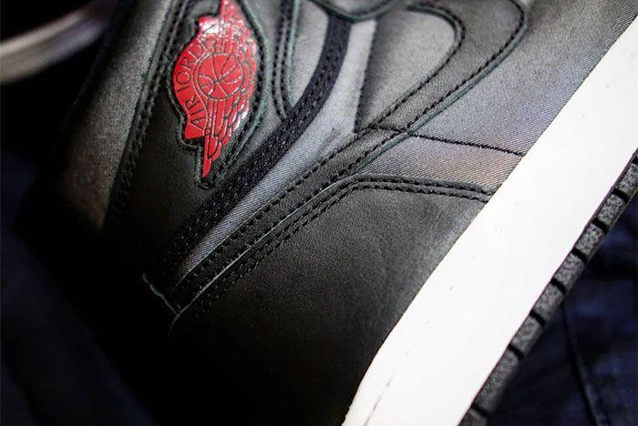 Air Jordan 1 Black Satin Sole