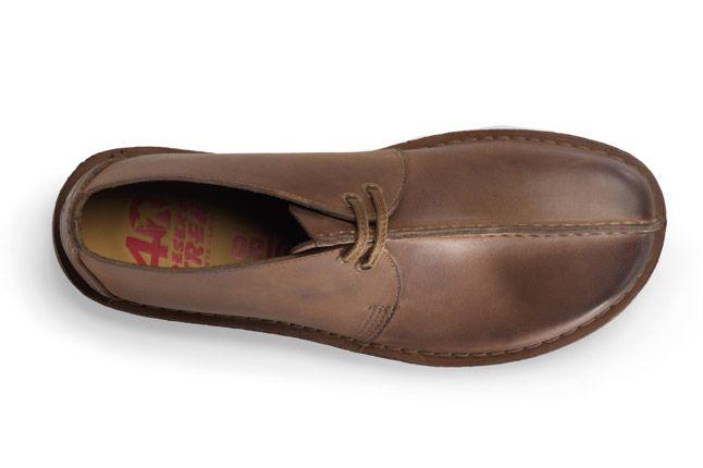 Clarks Originals Desert Trek Dark Brown Leather Top 1