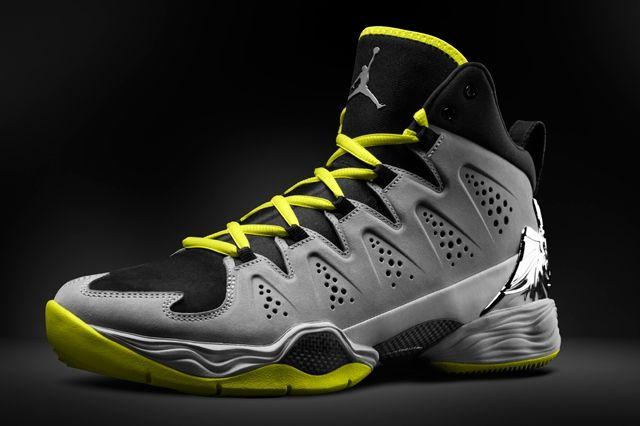 Air Jordan Melo 10 Yellow Black Angle