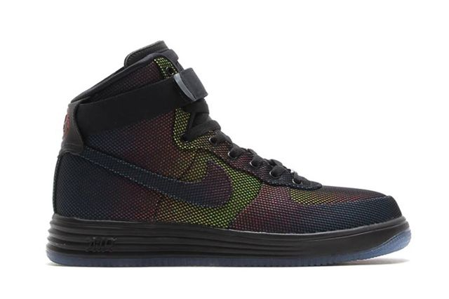 Nike Lunar Force 1 High Dyed Canvas University Red Black 1