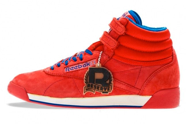 Reebok Freestyle High Vintage Red Profile 1
