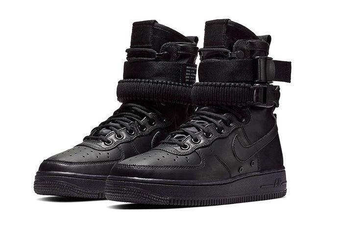 Nike Sf Af1 High Triple Black 1