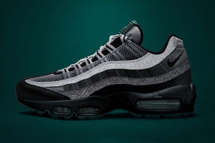 Nike Day Of The Dead Air Max 95 Lateral Side Dark