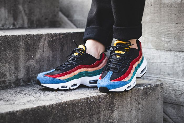 Nike Womens Air Max 95 Premium Dark Cayene Rio Teal 2