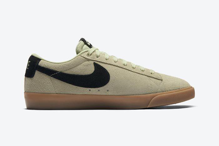 Nike Sb Blazer Low Olive Aura Medial