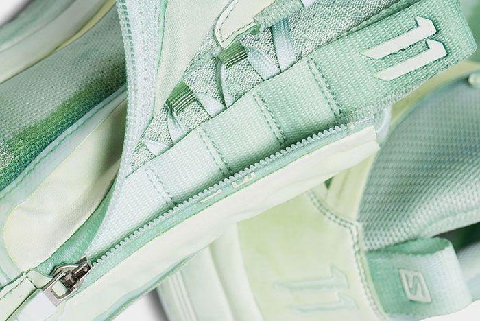 11 By Boris Bidjan Saberi Salomon S Lab Bamba 2 Green Zip Detail