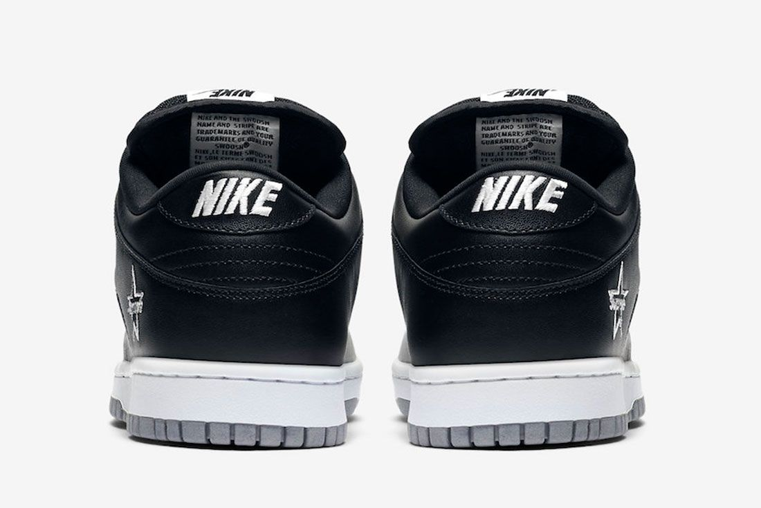 Supreme Nike Sb Dunk Low Metallic Silver Ck3480 001 2019 Release Date 5 Heel