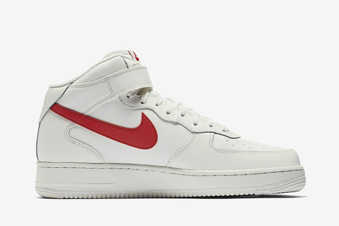 Nike Air Force 1 Mid 07 Sail University Red 4