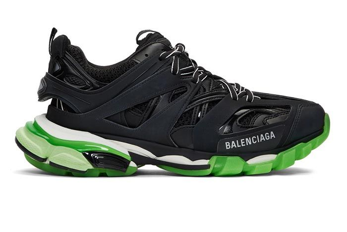 Balenciaga Track Sneaker Black Neon Green Lateral Shot
