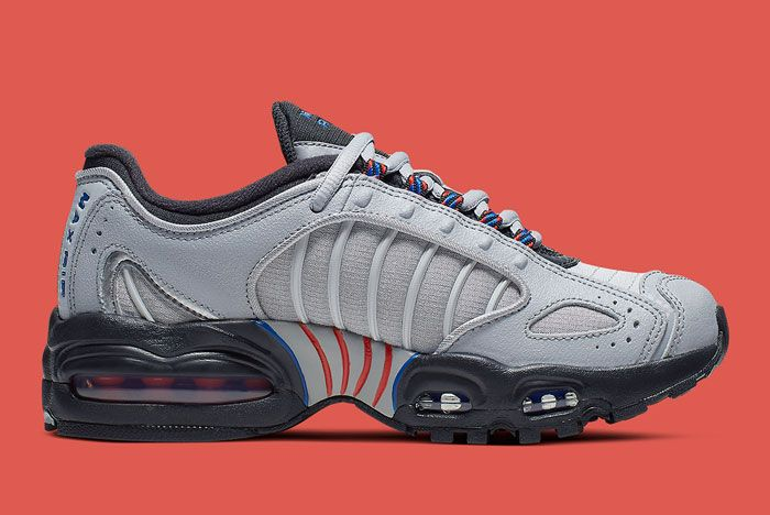Nike Air Max Tailwind 4 Gs Grey Blue Orange Lateral Inside
